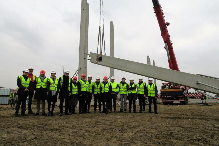 Eerste kolom nieuw logistiek centrum Agrityre