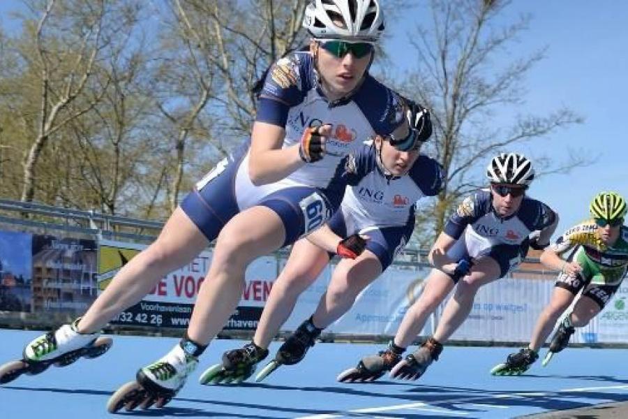 EK Inline Skating op aangelegde piste van Stadsbader