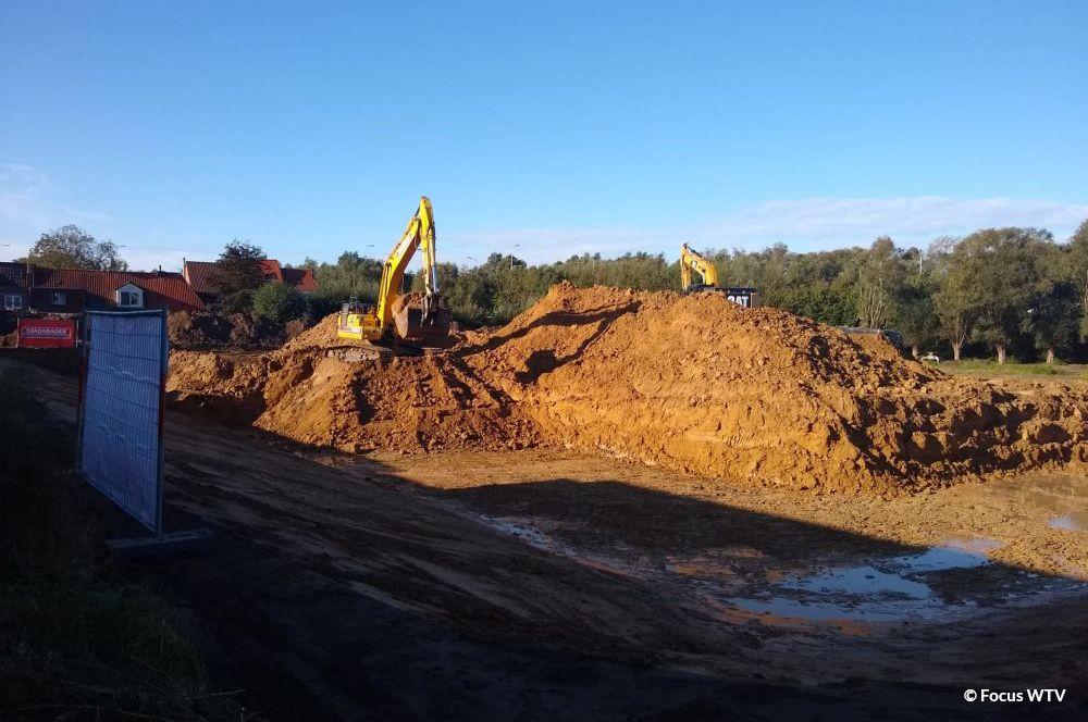 Construction d'un bassin tampon
