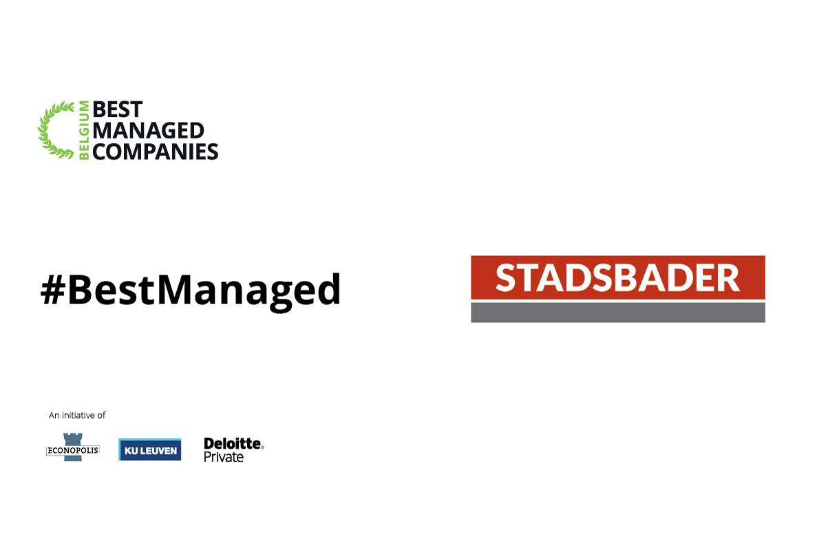 "Stadsbader erkend als ""Best Managed Companies 2020"""