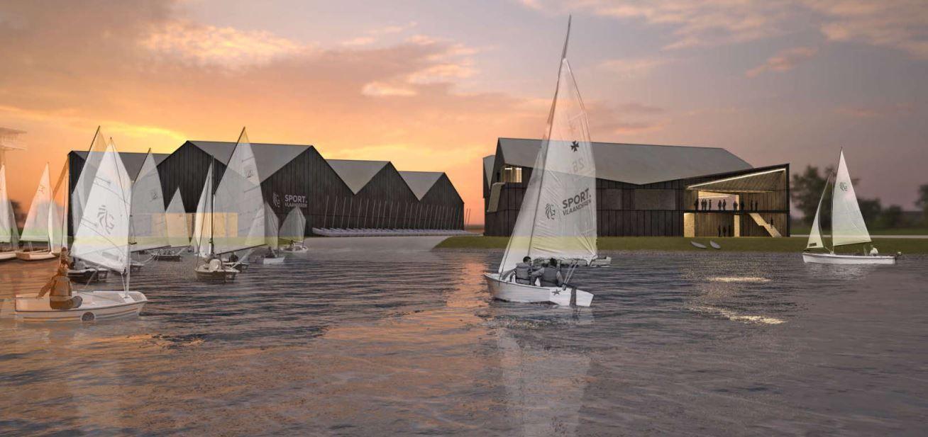 Hangar pour bateaux à Nieuport est meilleur concept